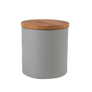 Conjunto de vasilha de chá preto de madeira