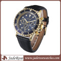 Hot Selling Alloy Men′s Wrist Watch with Alloy Band or Genuine Leather Band