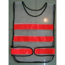 Yj-5018 Black Polyester Reflective Hi Vis Safety Mesh Vest Harness Workwear