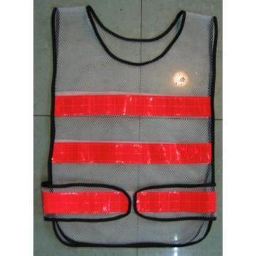 Yj-5018 Black Polyester Reflective Hi Vis Safety Mesh Vest Harness Workwear