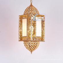 Iluminación colgante de la linterna de la ejecución del estilo marroquí antiguo de cristal