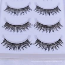 whole sale private label packaging synthetic or fiber or korean 3d false eyelash