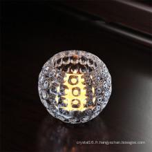 Bougeoir en verre cristal de boule pour la décoration de Noël