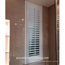 Panel Eröffnung der weißen Linde Plantage Fensterläden für das Badezimmer