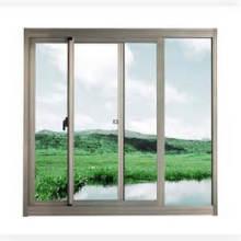 Diseño duradero Doble acristalamiento Aluminio / Aluminio Metal Ventana corredera de vidrio fijo