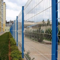 3d curved Pvc coated triangle bending welded wire mesh fence