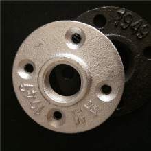 Malleable iron galvanized pipe fitting 3/4'' floor flange