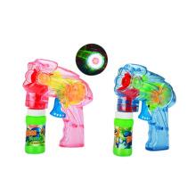Plastic Transparent Friction Bubble Gun with Light (10221059)