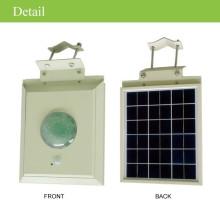 LED alumbrado publico CE led luz de calle solar con movimiento PIR, Sensor de luz solar al aire libre del led