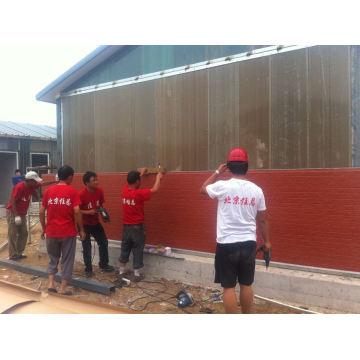 Painel de parede pré-fabricado do painel da fachada da casa / parede / sanduíche do plutônio
