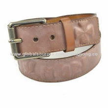 Distressed leather wide waist belt