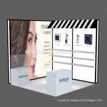 Detian Oferta beleza exposição estande portátil exposição estande comércio show equipamentos