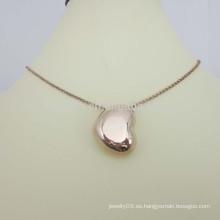 Fabricación de joyas artificiales de acero inoxidable collar de corazón de oro