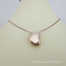 Fazer jóias artificiais em aço inoxidável colar de coração de ouro