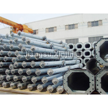 132kV Electric Galvanized Steel Tubular Pole