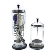 Salon Barber Disinfection Jar Glass Manicure Disinfection Cup Hairdressing Tools