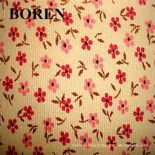 Tissu en velours côtelé en velours côtelé en coton 100% coton