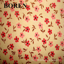 Corduroy Fabric Made of 100% Cotton Flower Print Corduroy