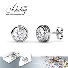 Destino joyas cristales de Swarovski redonda pendientes