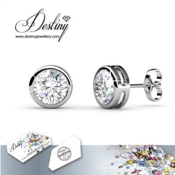 Destiny Jewellery Crystals From Swarovski Round Earrings
