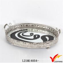 Großhandel Silber erscheinen antike Metall Serving Trays