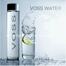 375ml Cylinder Voss Water Glass Bottle with Plastic Lid