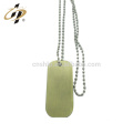 Cheap promotional antique bronze custom logo blank military metal necklace dog tag with bradde chain