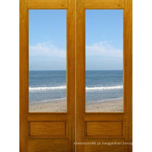 Porta de madeira interior sólida de vendas quente com vidro