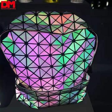 High light rainbow/iridescent/neon/multicolor/holographic/xeno/aurora TC reflective fabric cloth for shoes bag/handbag/bagpack