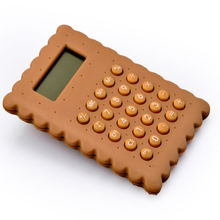 8 dígitos Cute Child Cookies Shape Electronic Calculator