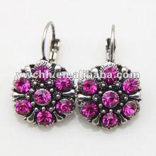 fashion alloy clip earrings clip on earrings