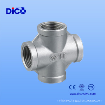 Best Price Stainless Steel Threaded Pipe Fittings 316 Cross Fig