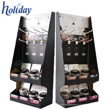 Легкий складной упаковке картон висит дисплей с крюками,обслуживание OEM/ODM пользовательский дизайн висячие Крючки Дисплей