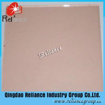 Verre float teinté rose 4-6mm avec Ce / ISO