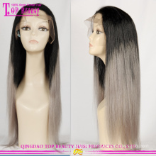 Factory direct supply ombre wigs with grey hair wholesale grey hair lace wig hot sale grey human hair wigs