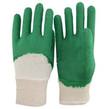 NMSAFETY Demi de coton interlock doublé de latex pour protéger le gant