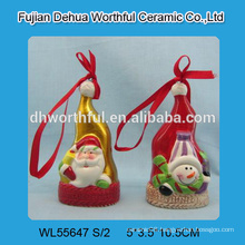 2016 popular christmas hanging ornament with santa claus / snowman pattern