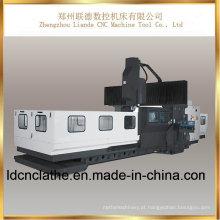 Máquina de trituração dobro do pórtico do CNC da elevada precisão da coluna