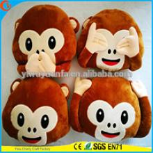 Alta qualidade Popular Vários desenhos Plush Monkey Emoji Pillow