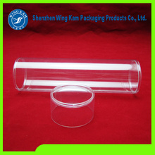 Plastic Container with Top Cap and Bottom Cap