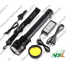HID Flashlight 24W/35W/50W/65W/75W/85W with Rechargeable Battery