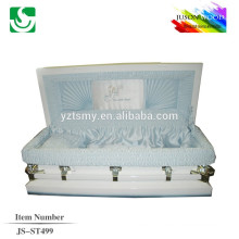 good quality velvet young metal casket