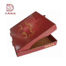 Qualidade superior logotipo personalizado decorativo reutilizável pizza de comida caixa de papel imagem