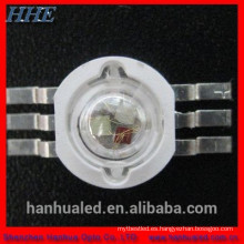 alta calidad 1 w rgb led diodo 3 w 4 pin rgb led 6 pin epistar chip RGB led CE y RoHS certificado