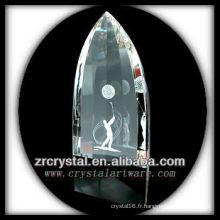 Image 3D Laser K9 à l'intérieur du cristal