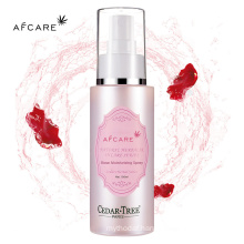 Private Label Custom Organic Moroccan Rosewater Hydrating Face Cooling Mist Spray Rose Water Facial Moisturizer Toner Spray