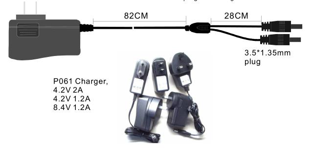 12W Charger 4.2v, 8.4v