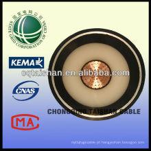 Hot Sale 110kV cobre XLPE isolado PVC 1 * 500mm2 Fogo cabo de alimentação resistente a partir da grade do Estado da China
