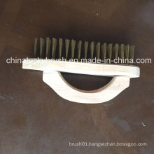 Square Wood Board Steel Wire Brush with Handle (YY-499)