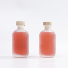 100ml 250ml 375ml 500ml Frosted Round Coffee Beverage Juice Bottle Hot Sauce Gin Glass Bottle with Cork